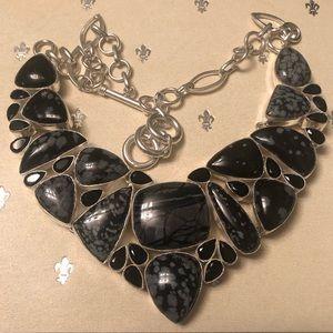 Handmade Snowflake Obsidian Picasso Jasper & Onyx